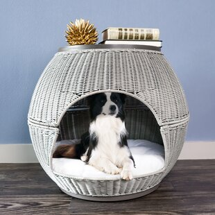Reviews Lulu Deluxe Wicker End Table Cat Bed by Archie & Oscar