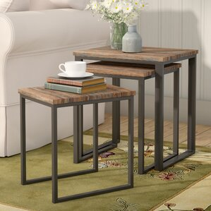 Laurel Foundry Modern Farmhouse Perry 3 Piece Nesting Tables Image