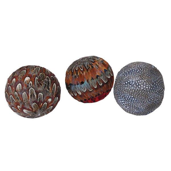 3 Piece Sphere Assorted Naturals Sculpture Set by Loon Peak
