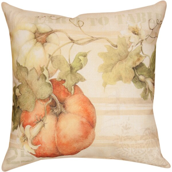 Pumpkins Farm to Table Knife Edge Throw Pillow by Manual Woodworkers & Weavers