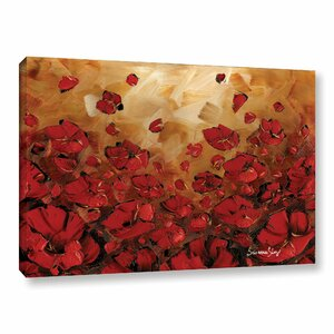 Poppies Painting Print on Wrapped Canvas by Latitude Run