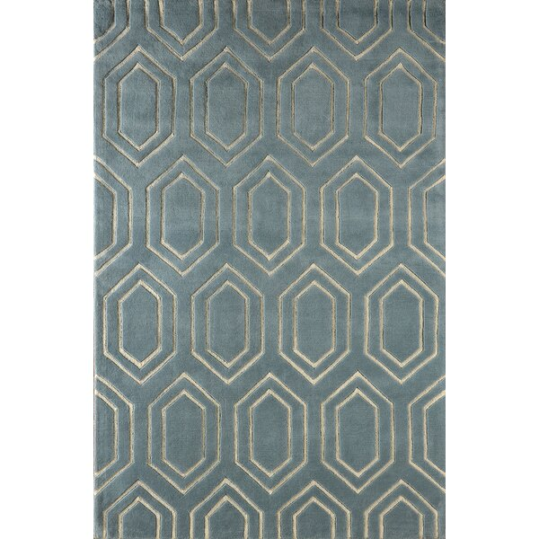 Graceland Hand-Tufted Blue/Ivory Area Rug by Mercer41