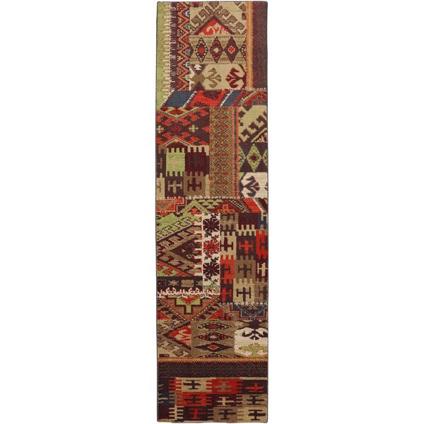Madison Bark Brown Patchwork Louis and Clark Bark Rug by Mohawk Home