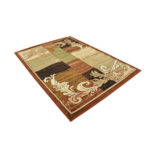 Dukinfield Wreath Leaf Hand-Tufted Brown/Beige Green Area Rug by Fleur De Lis Living