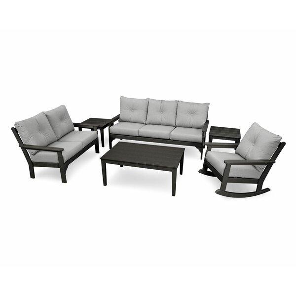 Vineyard 6 Piece Sofa Set with Sunbrella Cushions by POLYWOOD®