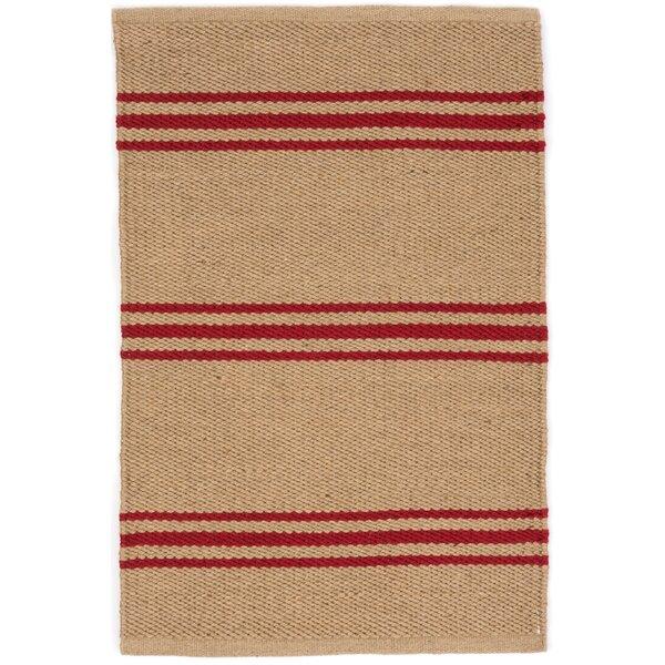 Lexington Hand Woven Red/Beige Indoor/Outdoor Area Rug by Dash and Albert Rugs