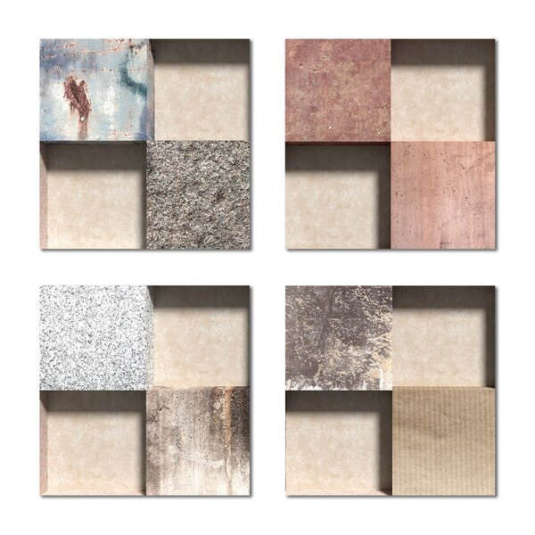6 x 6 Beveled Glass Field Tile in Beige/Pink by Upscale Designs by EMA