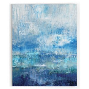 'Morning Mist' Watercolor Painting Print on Wrapped Canvas by Latitude Run