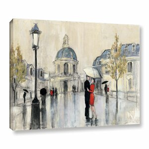 Spring Rain Paris Painting Print on Wrapped Canvas by Red Barrel Studio