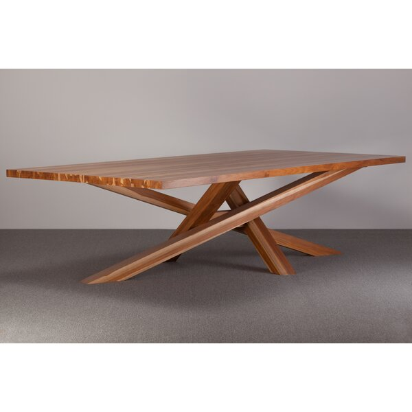 Cross Solid Wood Dining Table by Ebb and Flow Furniture