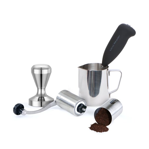 4 Piece Lovers Manual Coffee Grinder Set by Mind Reader