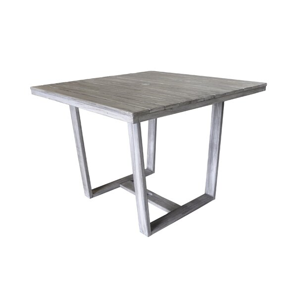 Joanne Casual Contemporary Outdoor Dining Table by Gracie Oaks