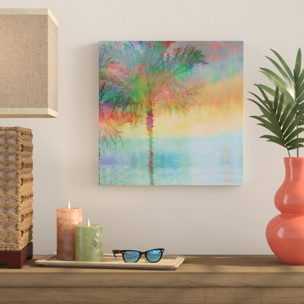 Palmae Reflections Square Painting Print on Wrapped Canvas by Bay Isle Home