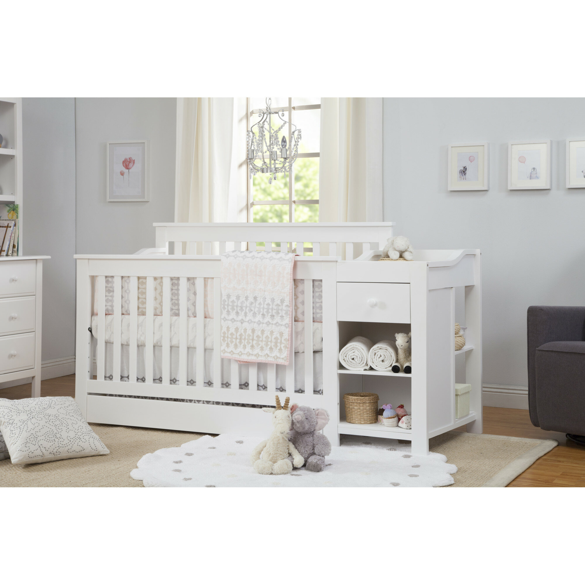 of with s collection size table crib gray baby changing full emma and combo remi in bed changer bundle relax convertible mattress