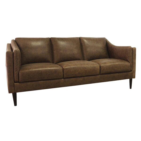 Offers Saving Carl Leather Sofa by Union Rustic by Union Rustic