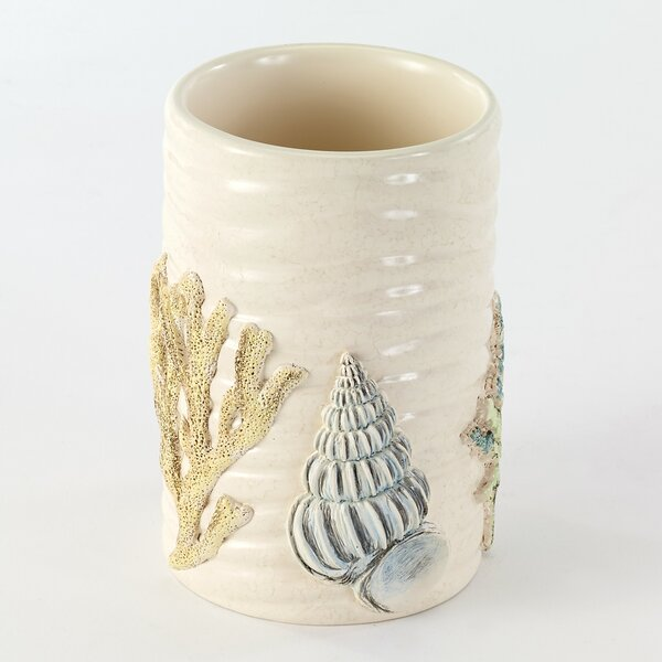 Seabreeze Tumbler and Toothbrush Holder by Avanti Linens