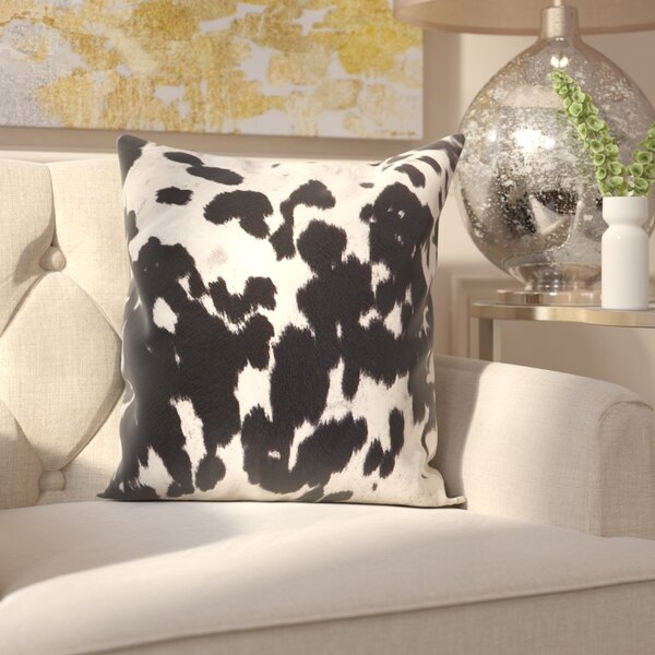 Margarida Cow Hide Print Throw Pillow (Set of 2) by Willa Arlo Interiors