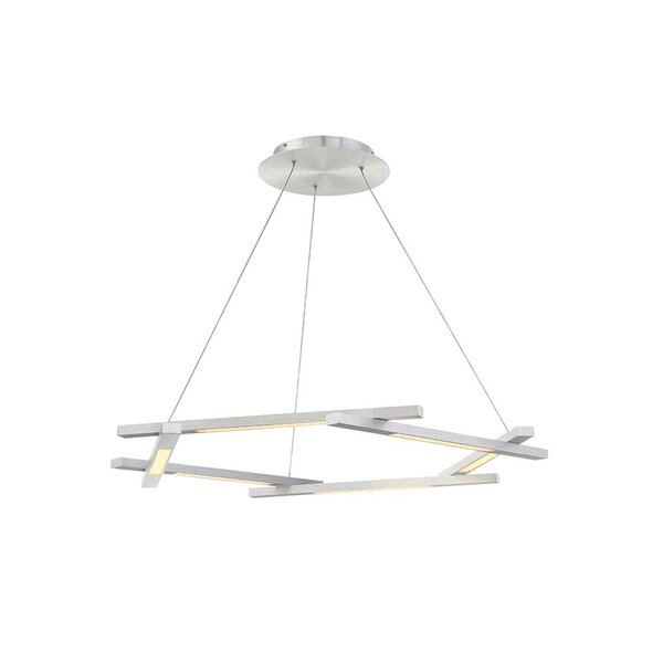 Metric 6 - Light Unique / Statement Geometric LED Chandelier By Modern Forms
