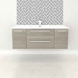 Price Check Silhouette 48 Wall-Mounted Single Bathroom Vanity Set ByCutler Kitchen & Bath