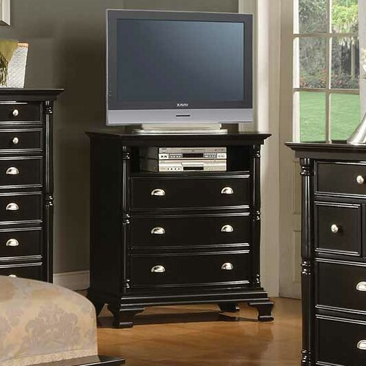 Rochester 3 Drawer Media Chest by Alcott Hill