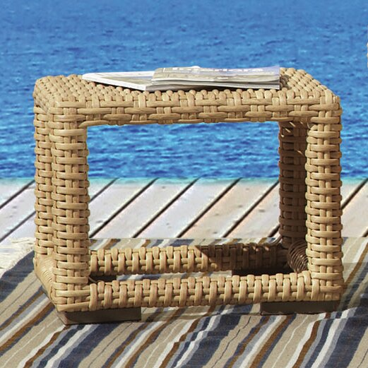 Leucadia Wicker/Rattan Side Table by Sunset West