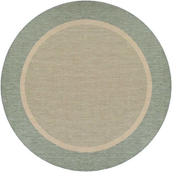Linden Texture Green/Beige Indoor/Outdoor Area Rug by Beachcrest Home