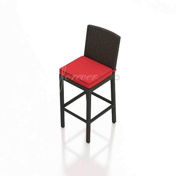 Barbados 29 Patio Bar Stool with Cushion by Forever Patio