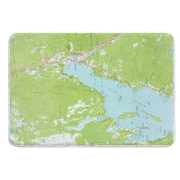 Nautical Chart Lake George NY (1966) Rectangle Memory Foam Non-Slip Bath Rug