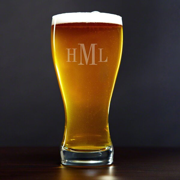 Personalized 20 oz. Pilsner Glass by Home Wet Bar