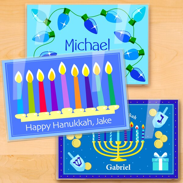 Hanukkah 3 Piece Personalized Placemat Set by Olive Kids