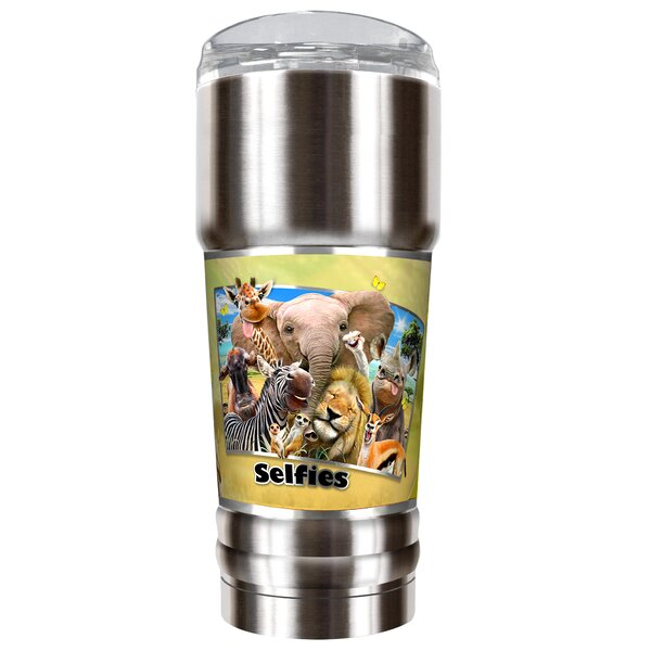 Africa Selfies 32 oz. Stainless Steel Travel Tumbler by Great American Products
