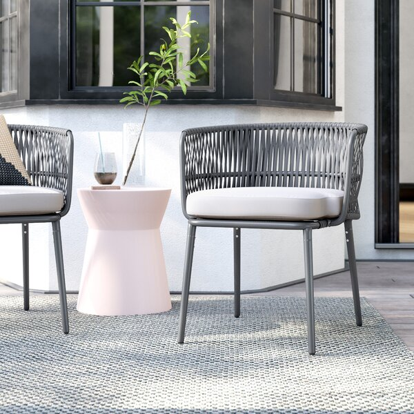 Taylor Rope Patio Dining Chair with Cushion (Set of 2) by Foundstone