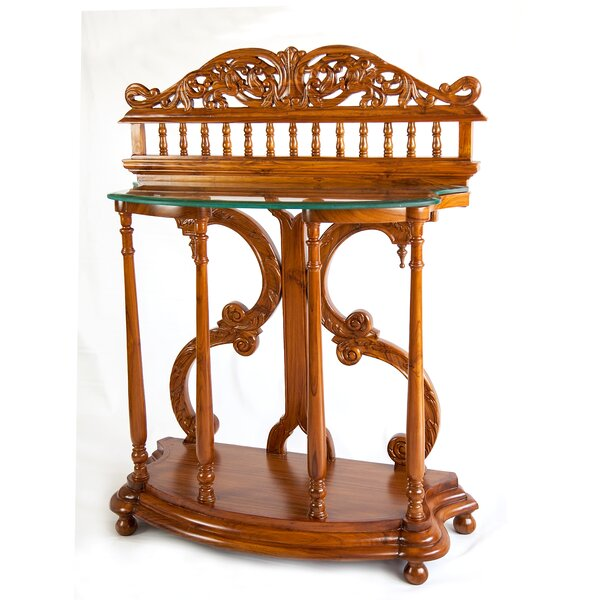 Vintage Style Ornamental Console Table By The Silver Teak