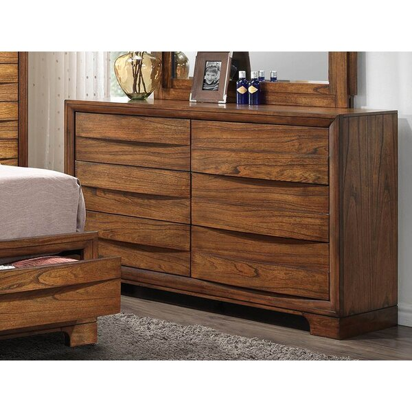 Cotswald 6 Drawers Double Dresser by Loon Peak