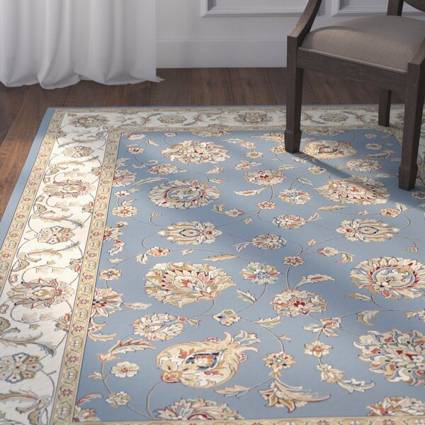 Attell Woven Blue/Ivory Area Rug by Astoria Grand