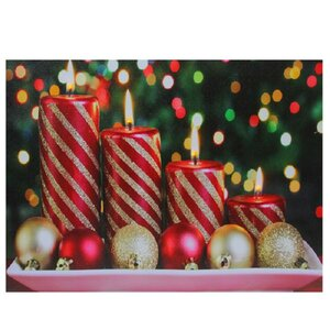 'LED Lighted Christmas Candles' Photographic Print on Canvas by The Holiday Aisle