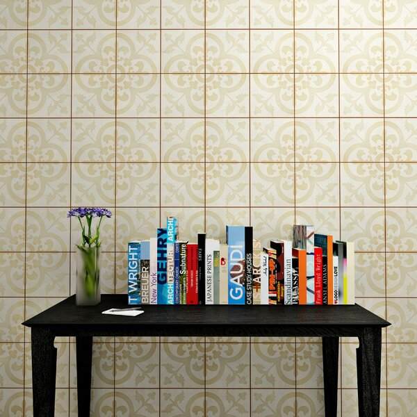 Ciment 7.88 x 7.88 Cement Field Tile in Beige by EliteTile