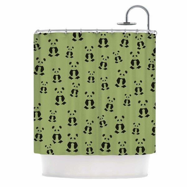 Cristina Bianco Panda Illustration Shower Curtain by East Urban Home