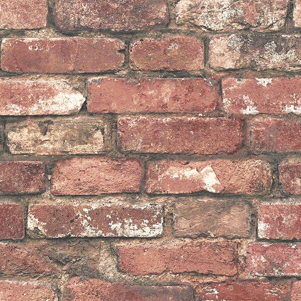 Essentials Loft 33' x 20.5 Brick Wallpaper Roll by Brewster Home Fashions