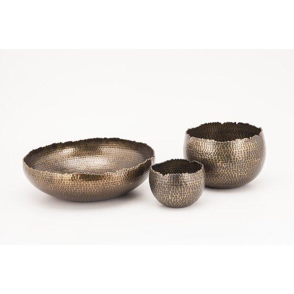 Jagged Edge Decorative Bowls (Set of 3) by Fashion N You by Horizon Interseas