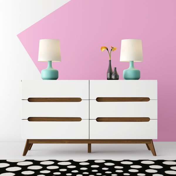 Cravens 6 Drawer Double Dresser by Hashtag Home