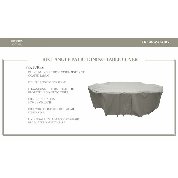 Oasis Resistant Patio Dinning Table Cover by TK Classics