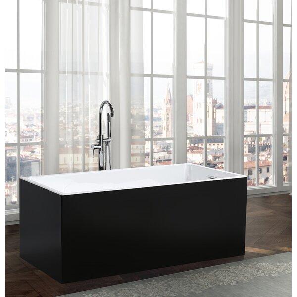 Brindisi 59.1 x 29.5 Freestanding Soaking Bathtub by Bellaterra Home