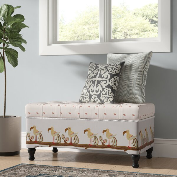 Crosby Upholstered Storage Bench By Bayou Breeze Savings
