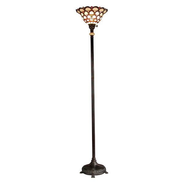 Pate Tiffany 71 Torchiere Floor Lamp by Astoria Grand