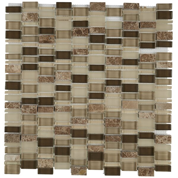 Clio Random Sized Glass Mosaic Tile in Selene by D