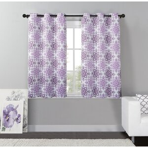 Nicolette Nature/Floral Max Blackout Grommet Single Curtain Panel