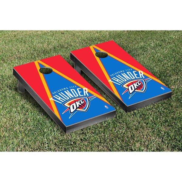 NBA Triangle Version Cornhole Game Set by Victory Tailgate