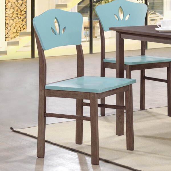 June Solid Wood Dining Chair (Set of 4) by Latitude Run
