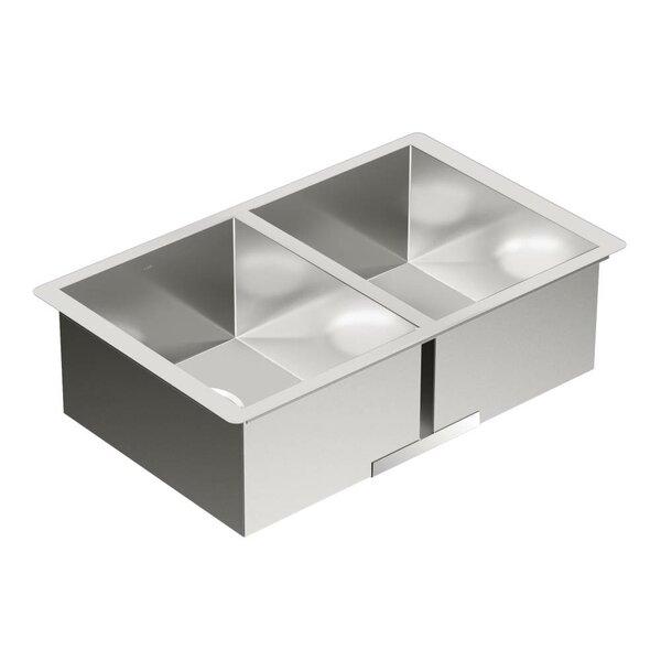 1800 Series 29 L x 18.5 W Double Bowl Kitchen Sink by Moen